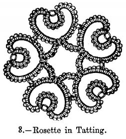 Rosette in Tatting