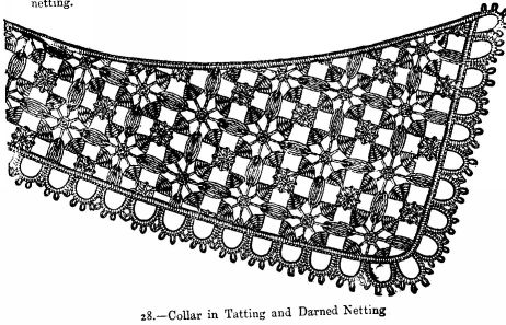 Collar in Tatting and Darned Netting