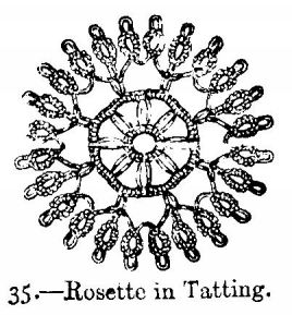 Rosette in Tatting.