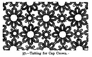 Tatting for Cap Crown.