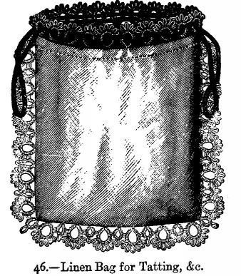 Linen Bag for Tatting, &c.
