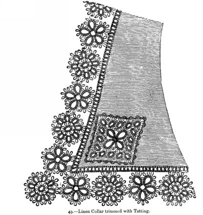 Linen Collar trimmed with Tatting.