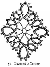 Diamond in Tatting.