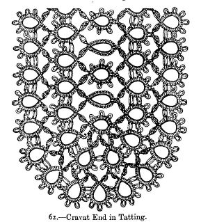 Cravat End in Tatting