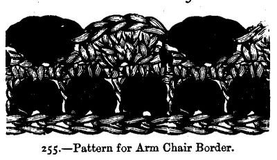 Pattern for Arm Chair Border.